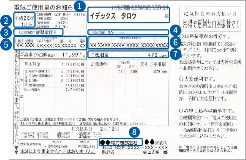 検針票の例1
